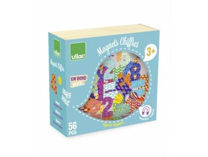 Vilac | Dřevěné magnetky Čísla 56 ks