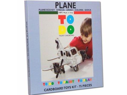 TO DO | Kartonová 3D skládačka Letadlo