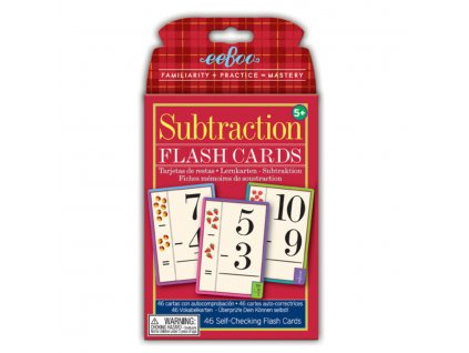 Flash Cards Subtraction 01