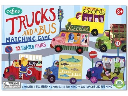 Trucks and a Bus Matching Game 01