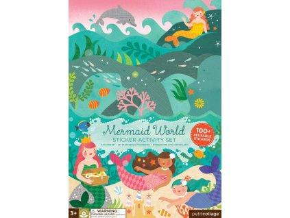 Petitcollage | Kreativní samolepky s deskami Svět mořské víly