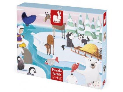 Janod | Hmatové puzzle Život na ledě