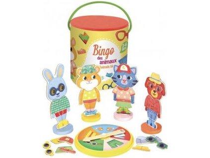 Vilac | Dřevěné bingo Zvířátka
