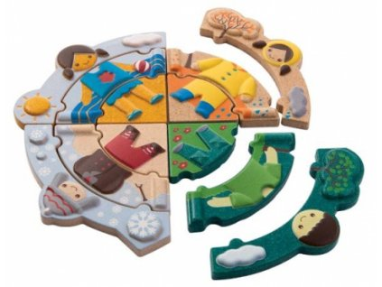 Plan Toys | Puzzle - Oblékání podle počasí