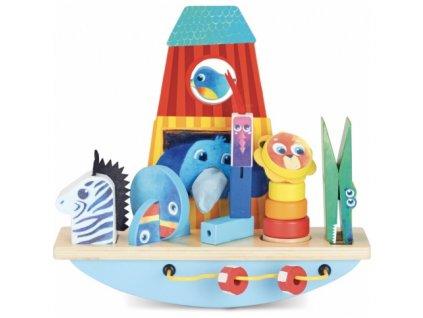 Vilac | Dřevěná motorická hračka Archa