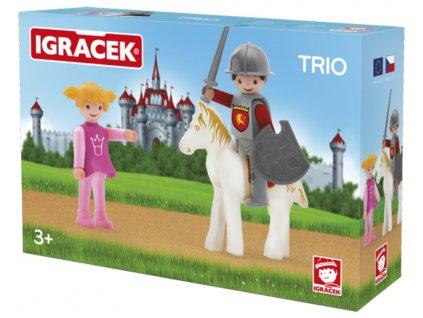 Efko | IGRÁČEK TRIO Princezna, rytíř a bílý kůň