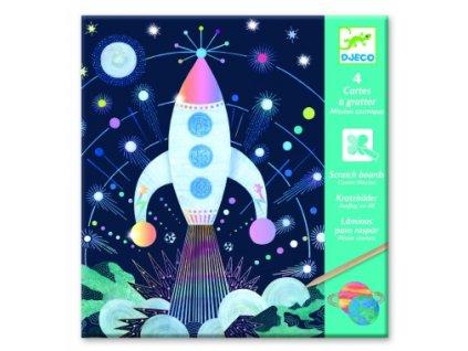Djeco | Vyškrabávací obrázky Vesmírná mise
