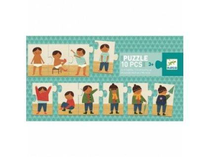 Djeco | Puzzle trio Oblékám se