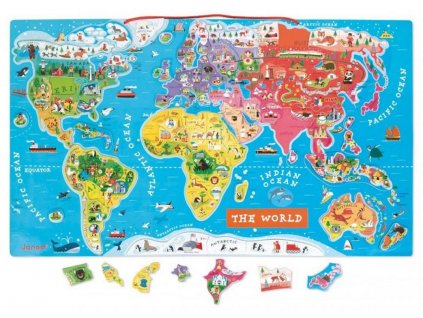 Woody | Mapa světa - puzzle Orbis pictus ENG