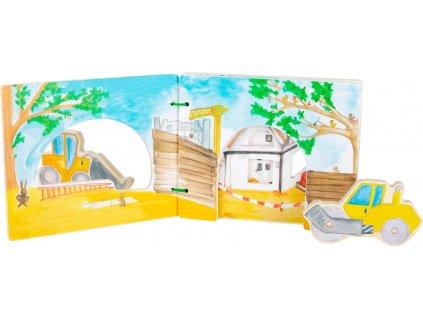 Legler | Dřevěné leporelo s auty Stavba