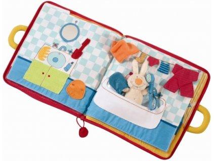Lilliputiens | Textilní knížka velká - Dobrou noc, malý králíčku