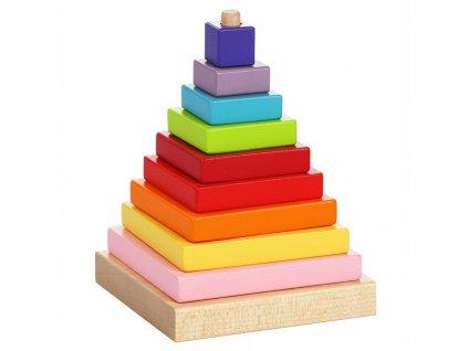 13357 cubika skladacka pyramida drevena