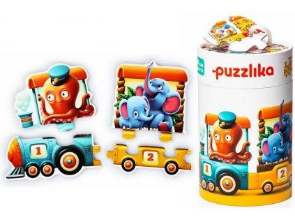 13050 puzzlika naucne puzzle pocitani vlak tit