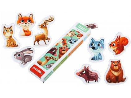 14798 puzzlika puzzle mini lesni zviratka tit