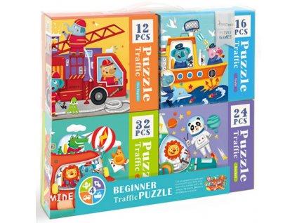 MD3025 mideer sada puzzle doprava pro kluky