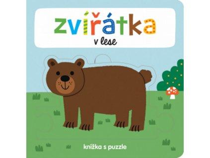 9788025626924 knizka s puzzle lesni zviratka