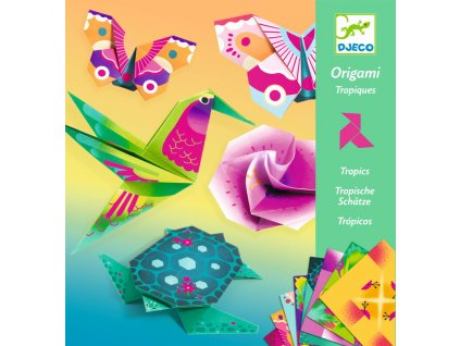 DJ08754 djeco origami neonove tropy