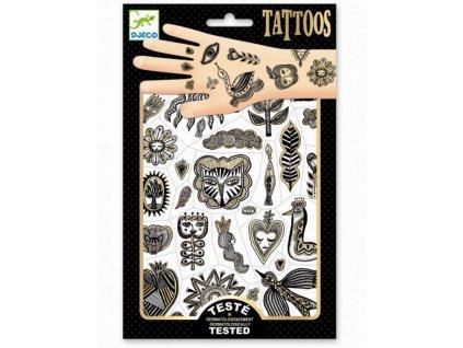 DJ09595 tetovani zlaty styl