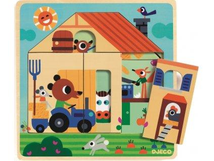 DJ01486 djeco trivrstve puzzle na statku
