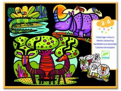 DJ09622 djeco sametove malovani safari