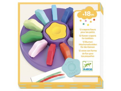 DJ09005 djeco kytickove pastelky pro nejmensi
