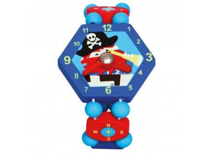9086037 bino hodinky pirat modre