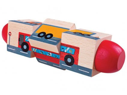 BJ077 bigjigs toys motoricky valec doprava