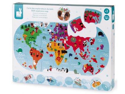J04719 Janod hracka do vody puzzle mapa sveta