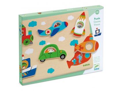 DJ01063 djeco vkladaci puzzle s obrazky