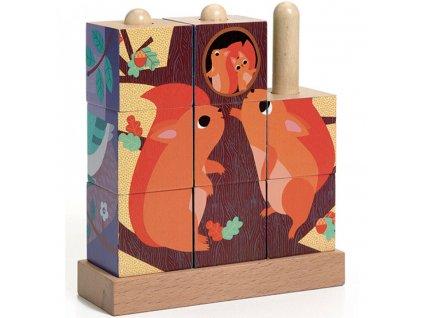 DJ01912 djeco drevene kostky les