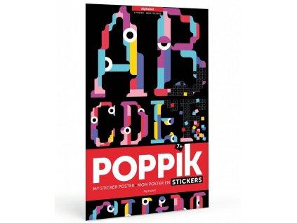 PIX014 poppik samolepkovy plakat abeceda