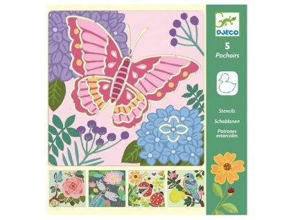 DJ08816 sablony pro deti pestrobarevna zahrada