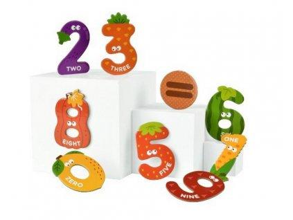 MD2102 mideer magneticka cisla s designem ovoce a zeleniny