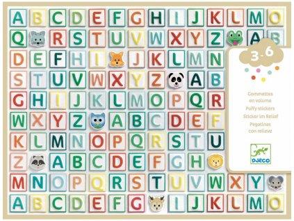 DJ09078 djeco samolepky abeceda