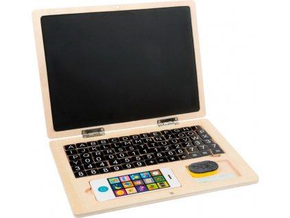 1193 legler dreveny notebook laptop magneticky abeceda cisla