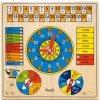 Woody | Víceúčelový kalendář s hodinami a barometrem