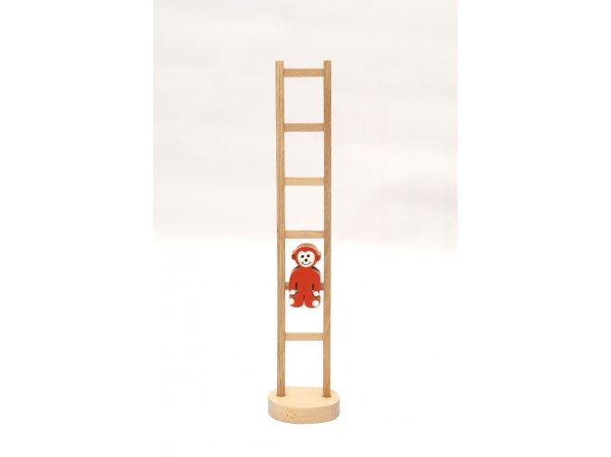 Opica na rebríku - červená