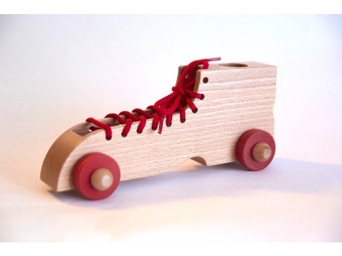 Šnurovacia topánka červená