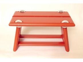 Stolička Retro s kolieskami červená