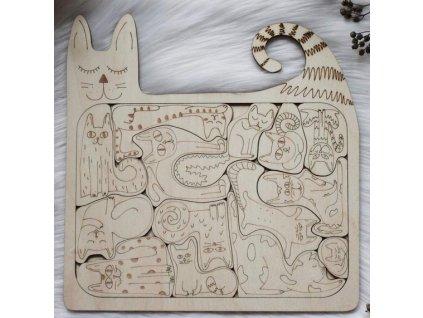 ART Kočky Skládačky