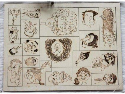 ART Obličeje Skládačka