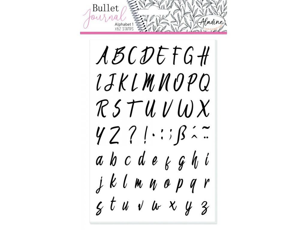 stampo bullet journal abeceda kurziva