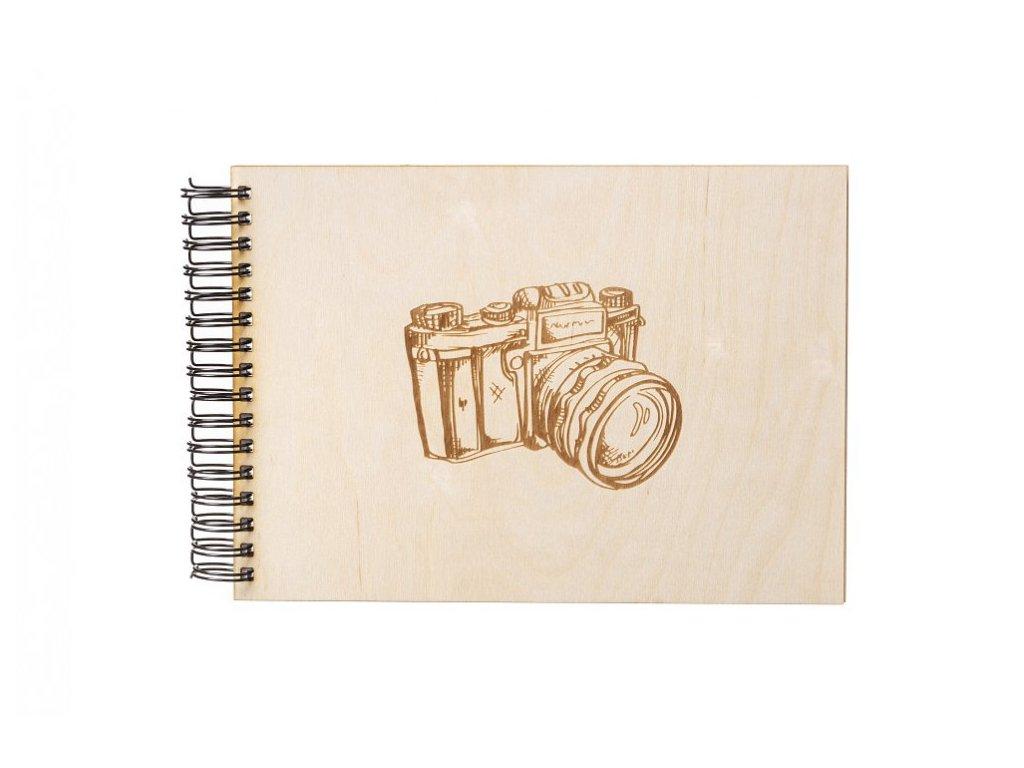 album fotoaparat dreveny