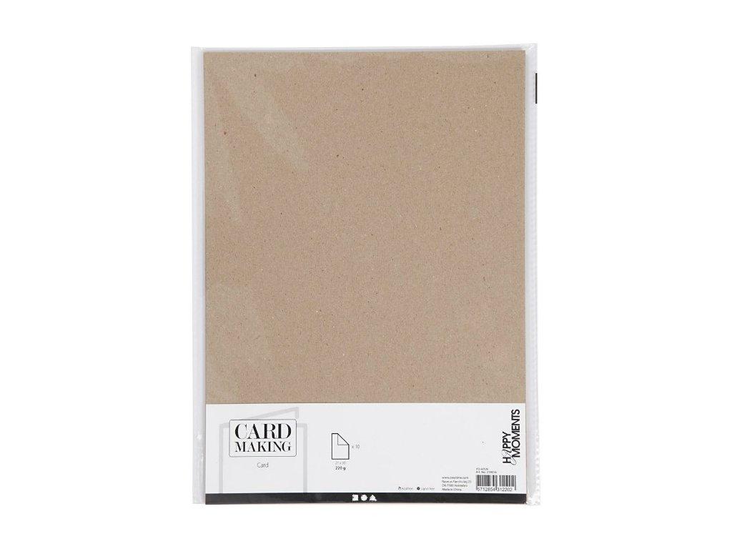 kraft papiry karton 1é ks