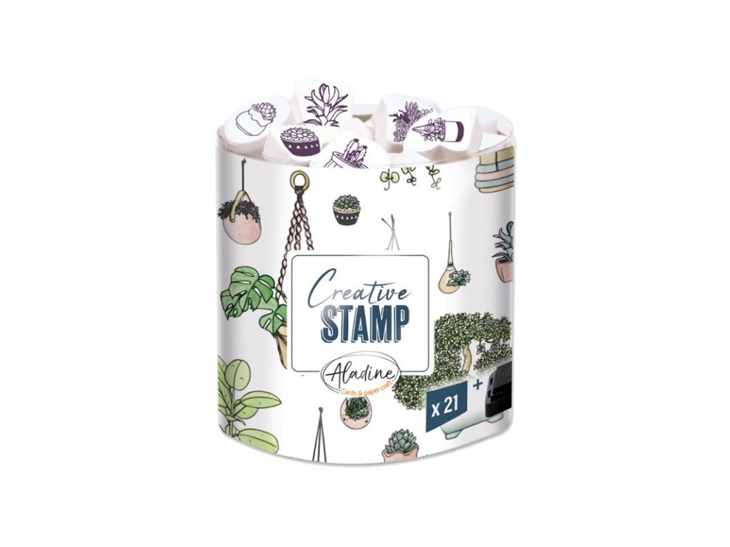 razitka creative stamps rostliny