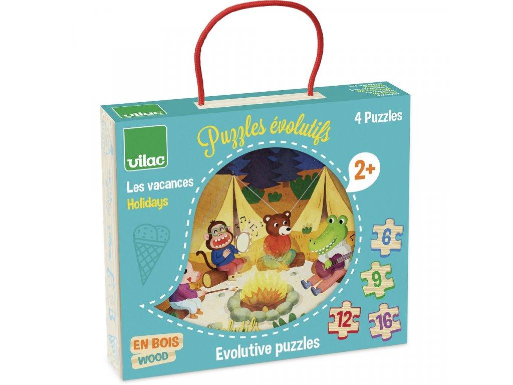 vilac drevene puzzle dobrodruzstvi 4 v 1