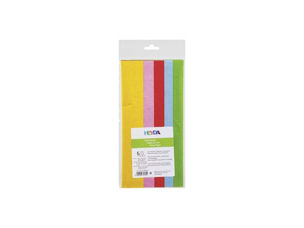 papir hedvabny pastelove barvy heyda