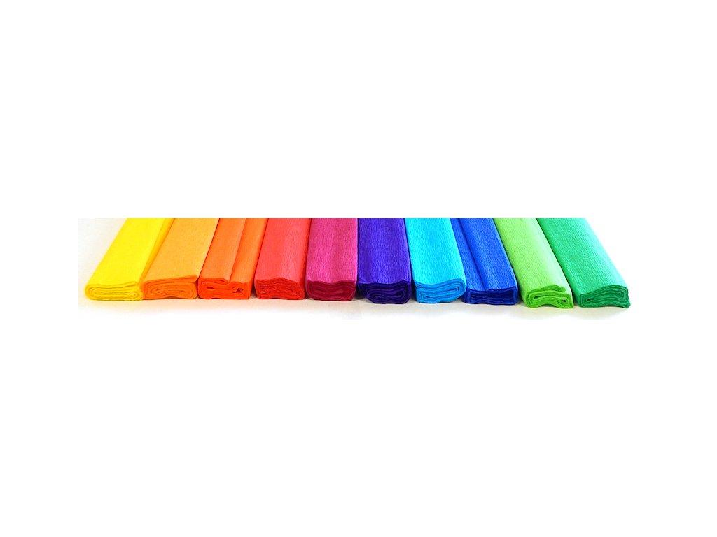 krepovy papir mix barev