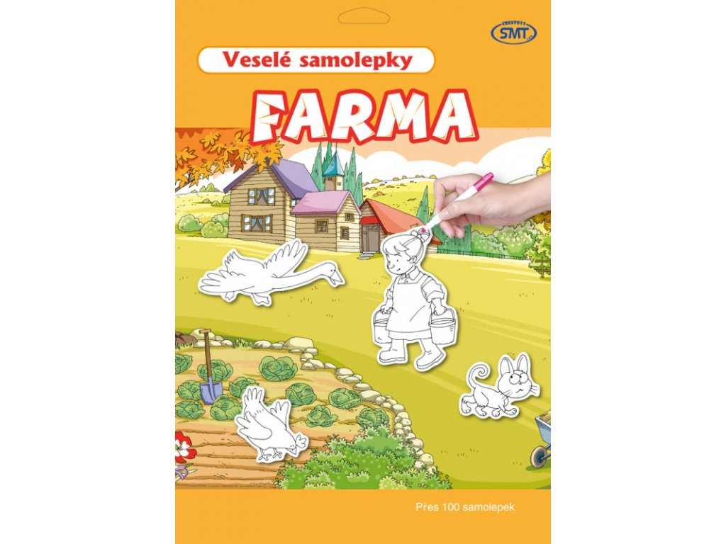 vesele samolepky farma