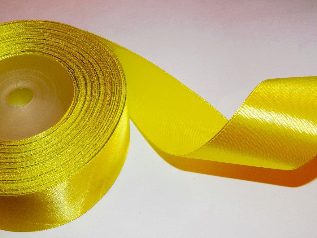 stuha jednolici zluta